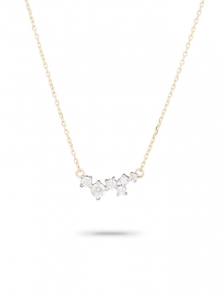 PAVE DIAMOND SCATTERED ON 14K GOLD CHAIN