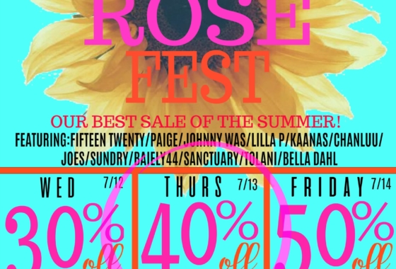 SUMMER ROSE FEST SALE!