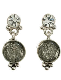 VIRGINS SAINTS & ANGELS SAN BENITO POST EARRING