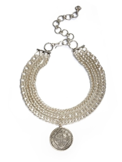 VIRGINS SAINTS & ANGELS MOORISH COIN CHOKER