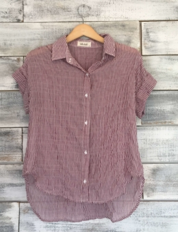 CAPSLEEVE BUTTON DOWN
