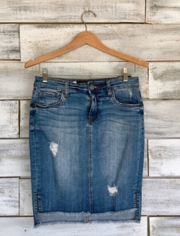 KUT CONNIE DENIM SKIRT