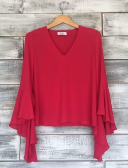 TATYANA FLARE SLEEVE TOP