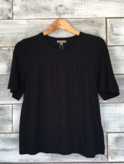 SHIRRED SHORT SLEEVE TOP