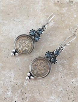 VIRGINS SAINTS AND ANGELS SAN BENITO LUCIA EARRING
