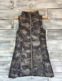 GREY CAMO LONG VEST | ANORAK