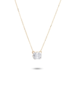 MULTI BAGUETTE DIAMOND NECKLACE