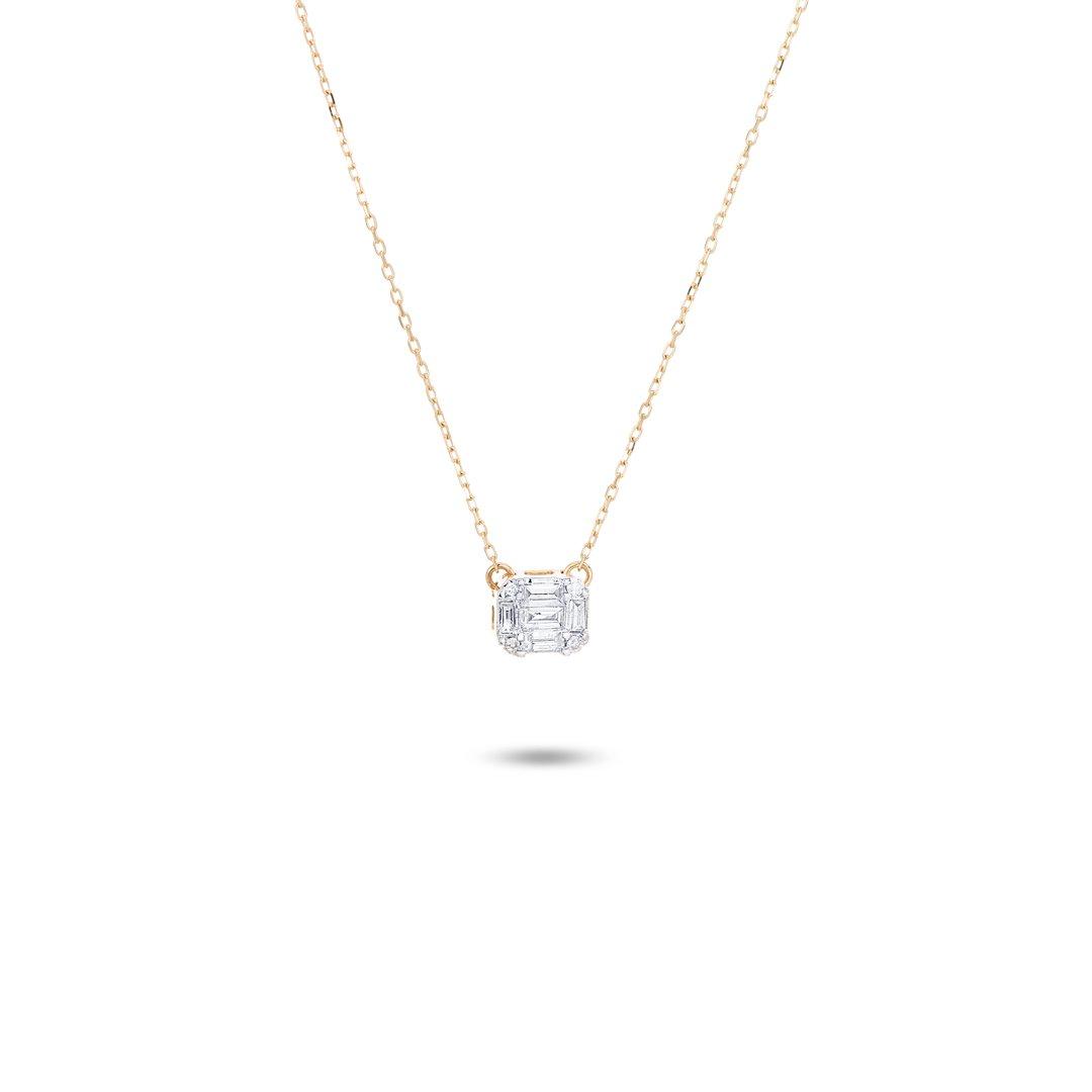MULTI BAGUETTE DIAMOND NECKLACE