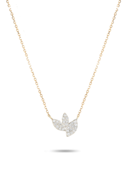 TINY PAVÉ MARQUISE CLUSTER NECKLACE
