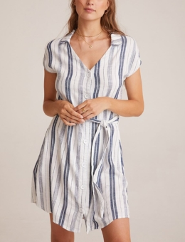 CAP SLEEVE BELTED DRESS