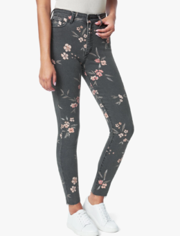 PAINTED BLOSSOM DENIM
