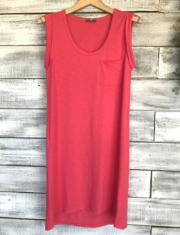 FIESTA SCOOP NECK POCKET DRESS