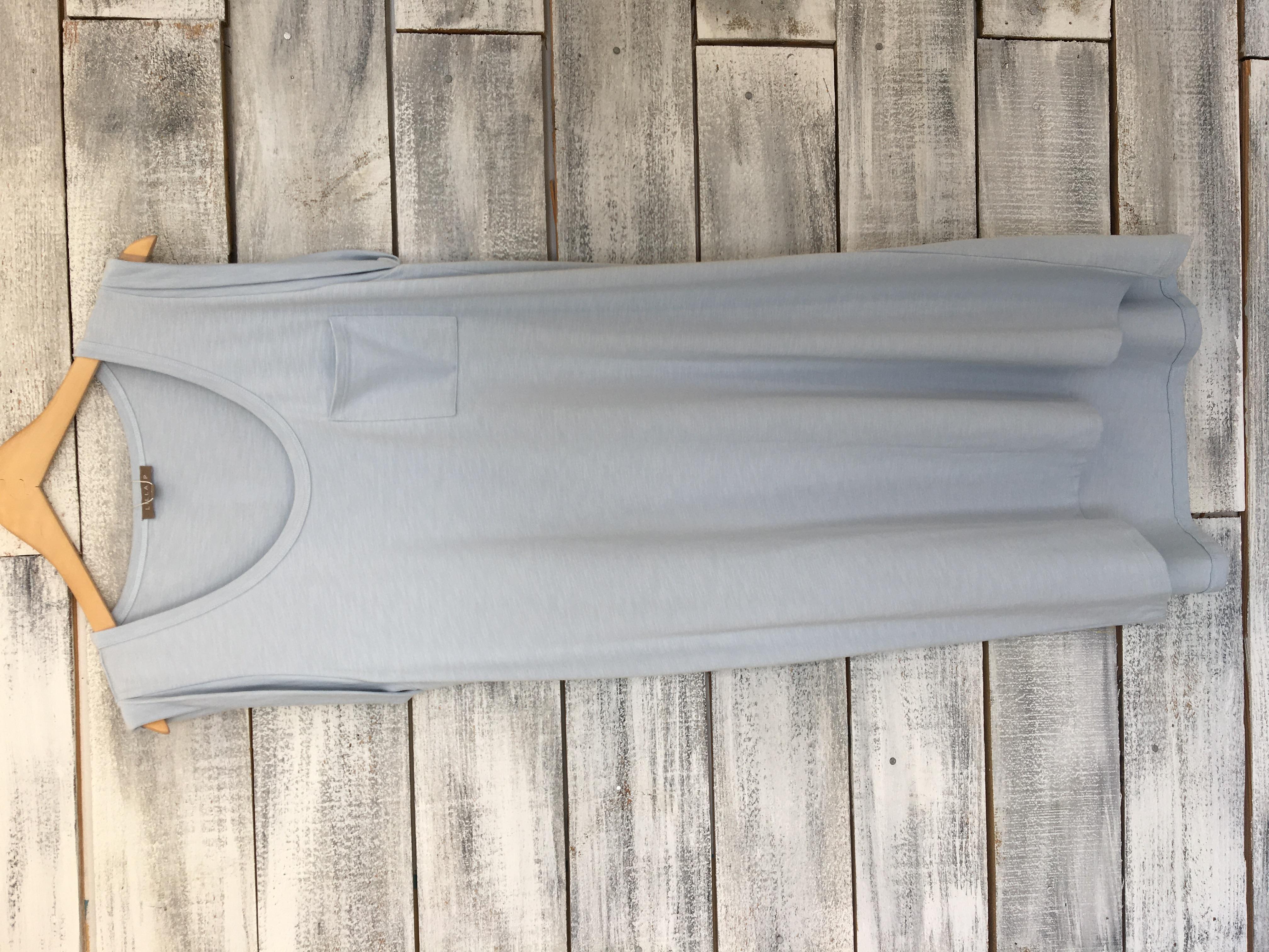 ICE SCOOP NECK POCKET DRESS