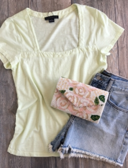 LEMON SQUARE TEE