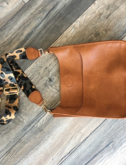 VEGAN LEATHER MESSENGER BAG WITH ADJUSTABLE GUITAR STRAP