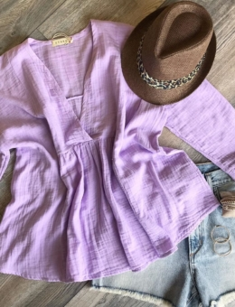 PURPLE BREEZE BLOUSE
