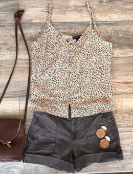 ESSENTIAL TANK IN MINI LEOPARD