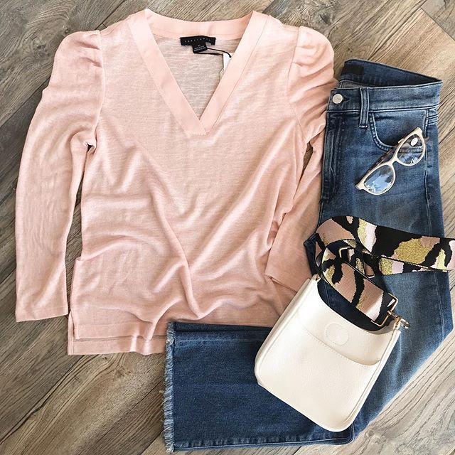 PINK PLEATED SLEEVE TOP