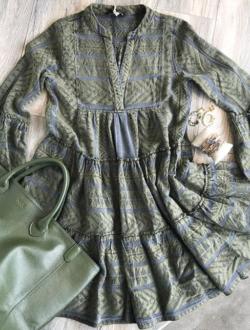 GREEN ELLA DRESS