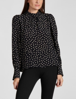 BLISS BLOUSE LATTE DOT
