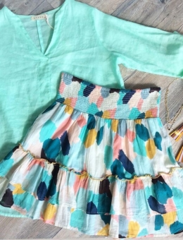 MULTICOLORED RUFFLE SKIRT